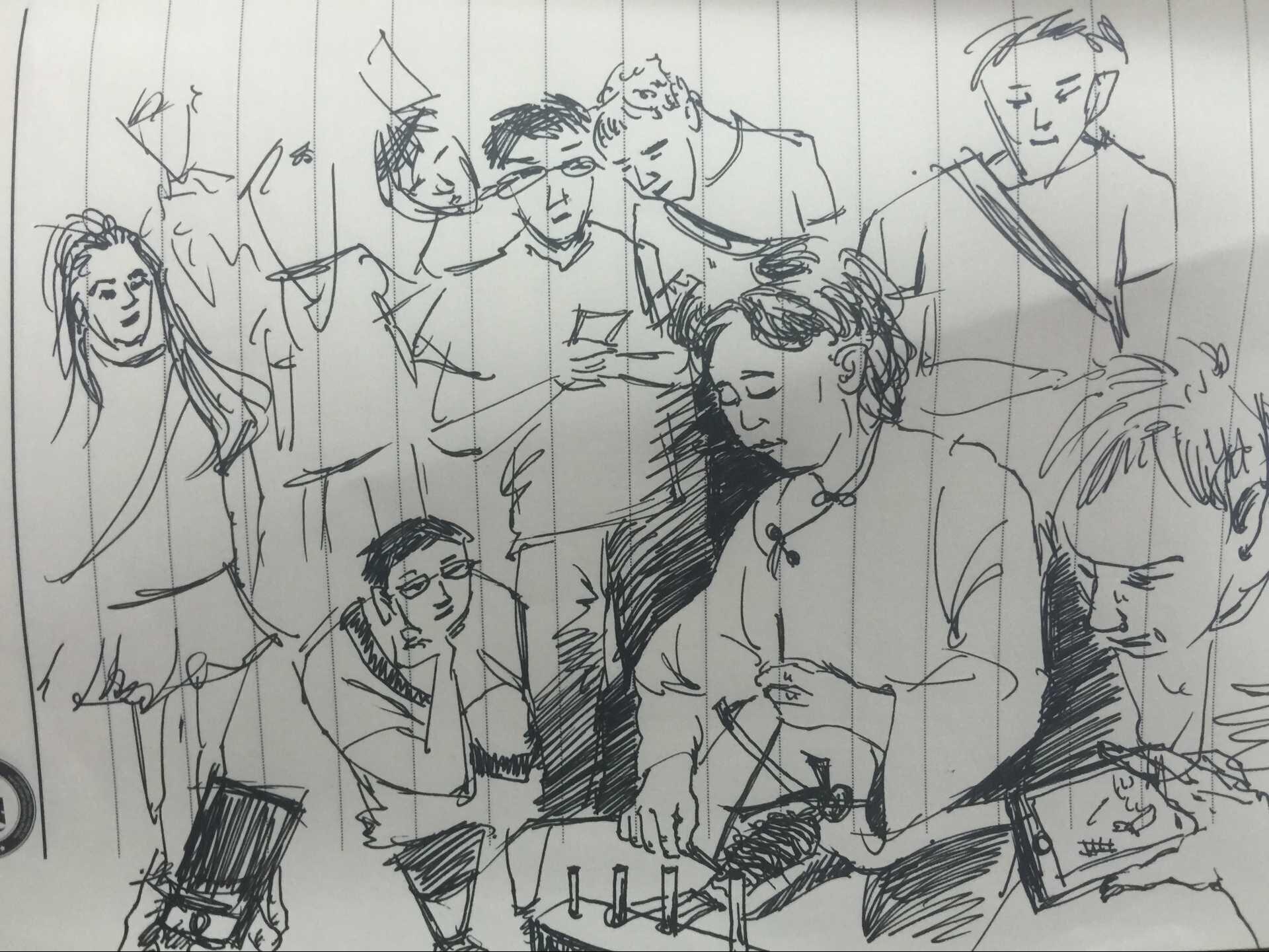 红军手绘图片简图