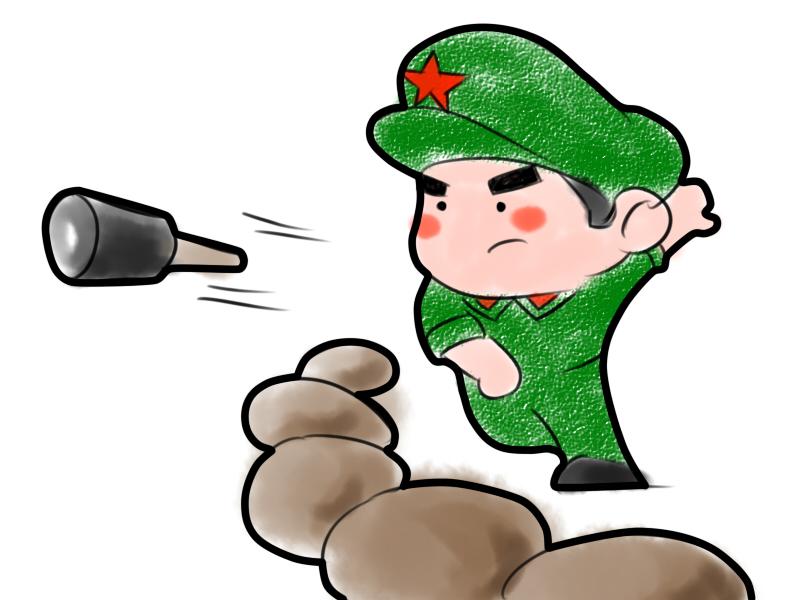 红军打仗卡通图片